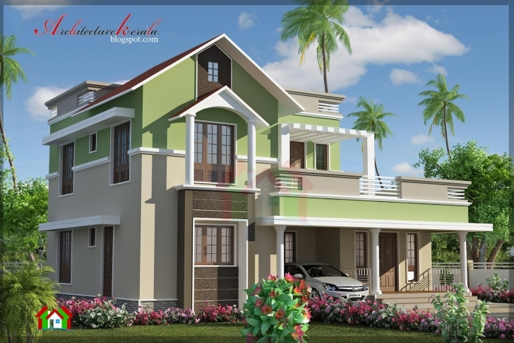 Best Kerala House 3D Elevation Design | The Base Wallpaper Kerala Elevation Residential House Plans Photo