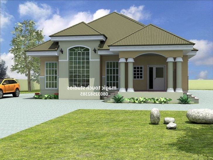 Best Nigerian House Plans Floor Atria Free Bedroom Bungalow In Uk Free Nigeria House Plans Pic