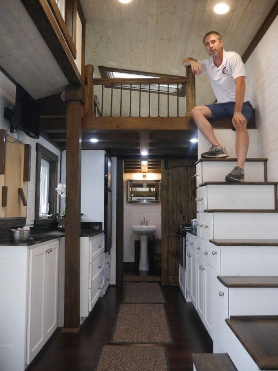 Best Relaxshacks: A Luxury Tiny House On Wheels!? And Its Fully Off 2 Story Tiny House Interior Pic