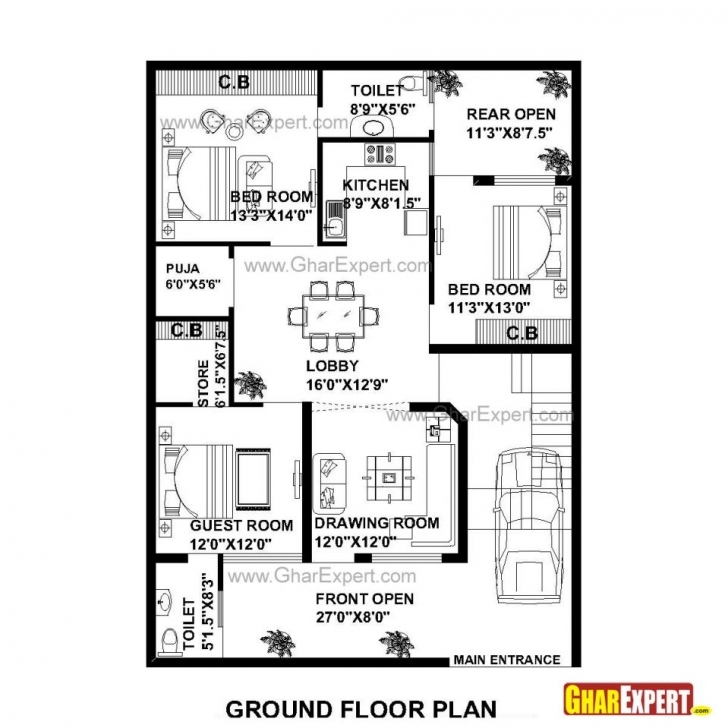 Best Uncategorized : Plot Plan For My House Online Best Within Brilliant Home Map 16*50 Feet Picture