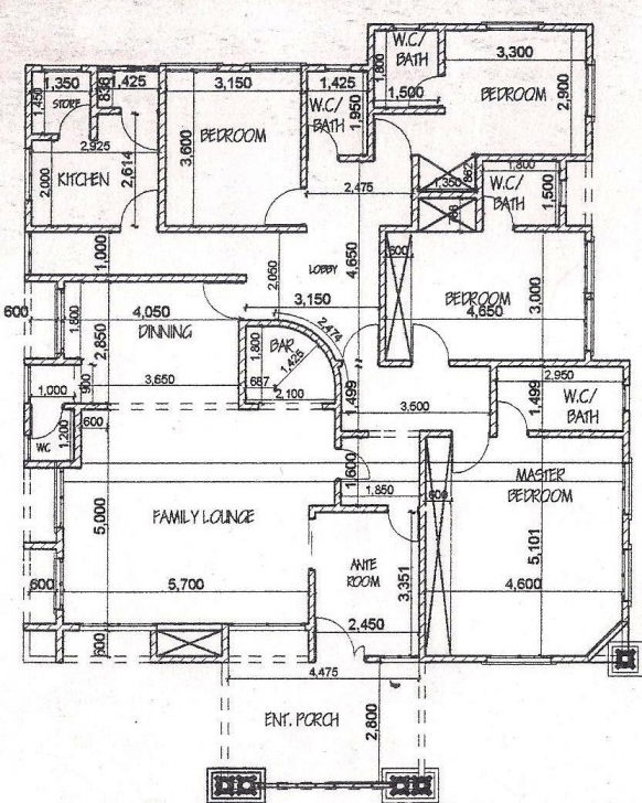 Brilliant 5 Bedroom Bungalow Design 5 Bedroom Bungalow House Plan In Nigeria Nigerian House Floor Plan Pic