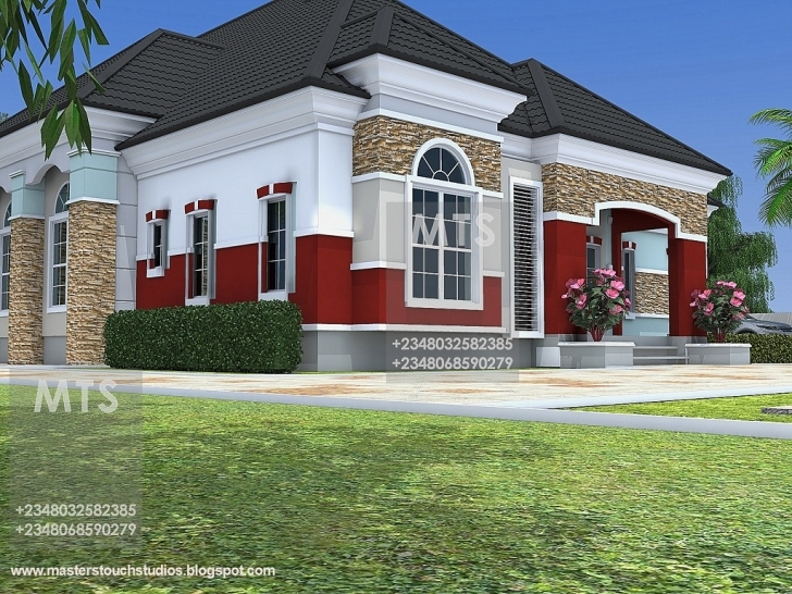 Brilliant 5 Bedroom Bungalow House Plan In Nigeria - Homes Zone Building Plan If A 5 Bedroom Duplex In Nigeria Photo