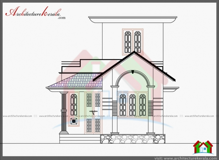 Brilliant 750 Sq Ft House Plan And Elevation - Architecture Kerala Kerala Model 750 Sq Veedu Design Pic