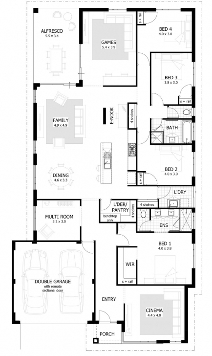 Brilliant Apartments. 4 Bedroom House Plans: Bedroom Bath House Plans Plan Limpopo 4Bedroom House Plan Photo