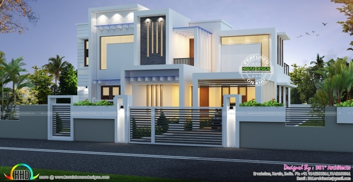 Brilliant Contemporary Box Type White Home 2224 Sq-Ft | Kerala Home Design Pergola Design Inside House In Kerala Pic