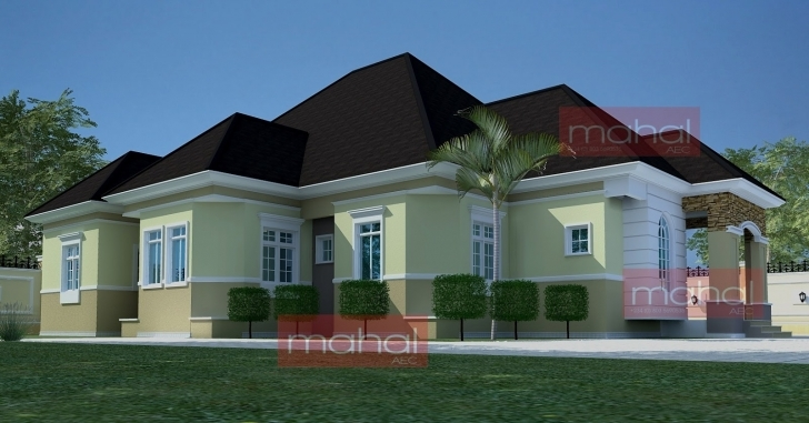Brilliant Contemporary Nigerian Residential Architecture: Festus House: 5 6 Bedroom Bungalow House Plans In Nigeria Picture