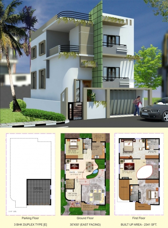 Brilliant Floor Plan - Balaboomi City 30 X 40 Duplex House Plans East Facing Picture