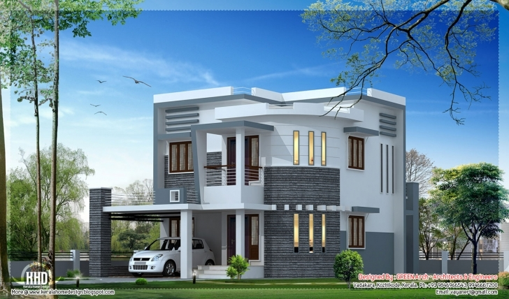Brilliant House Front Elevation Designs For Double Floor | The Best Wallpaper Kerala Elevation Residential House Plans Image