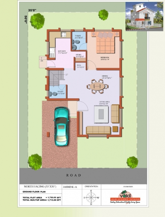 Brilliant House Plan North Facing Elegant House Plan Duplex For 20X60 Site 20*60 House Plan North Facing Pic