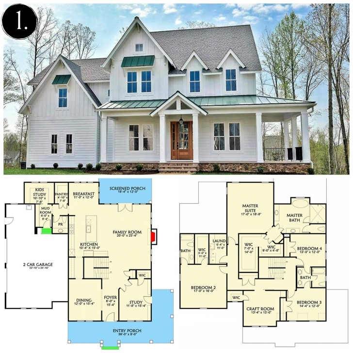Brilliant How To : 10 Modern Farmhouse Floor Plans I Love Rooms For Rent Blog Small Modern Farmhouse Plan Photo
