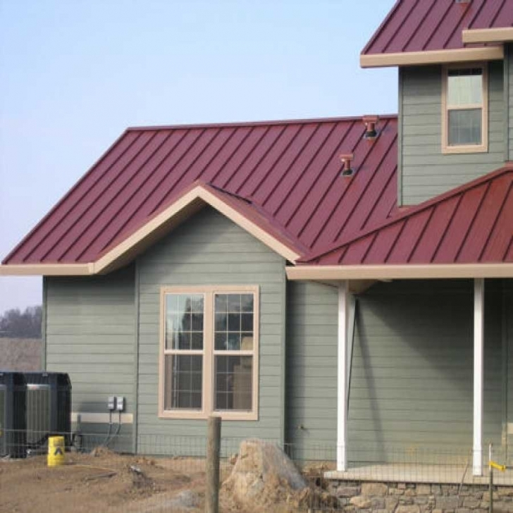 Brilliant Impressive Barn Metal Roofing #3 Houses With Red Metal Roof | That A Painting Of House With Red Roof Image