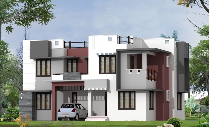 Brilliant Modern Home Design By Greenline Architects & Builders Front Elevation Of Houses Architecture Image