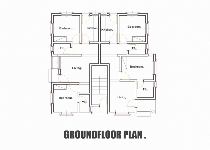Brilliant Three Bedroom Ground Floor Plan Unique 3 Bedroom Flat Floor Plan In 3 Bedroom Flat Plan Drawing In Nigeria Photo