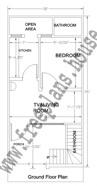 Classy 18X36 Feet Ground Floor Plan, | Plans | Pinterest | Photo Wall 16/50 House Plon Photo