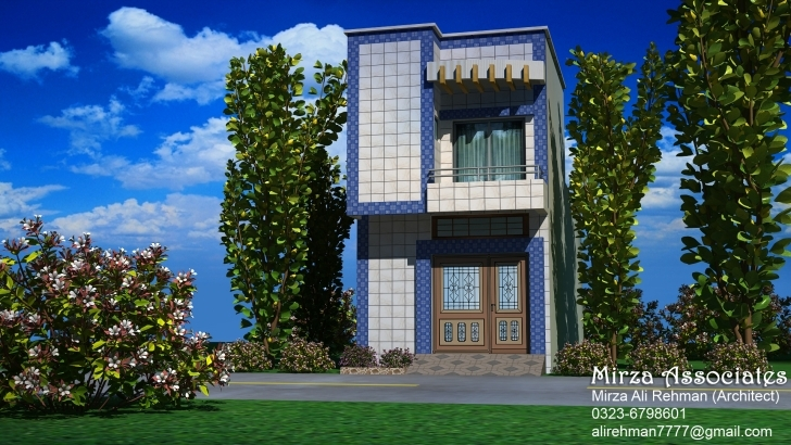 Classy 2.5 Marla House View. Front Elevation 15' Download - Evermotion House Front Designs 15 Picture
