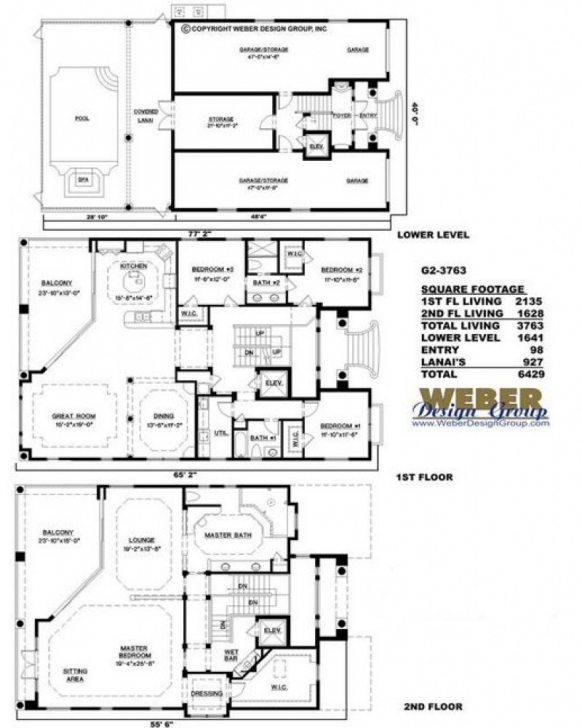 Classy Amazingplans House Plan #g2-3763 Ashley - Luxury, Spanish Floor Plan G 2 Residential Building Image