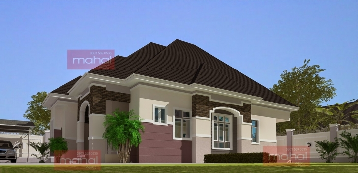 Classy Contemporary Nigerian Residential Architecture: 3 Bedroom Bungalow 3 Bedroom Flat Modern Buildings Picture