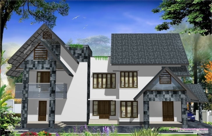 Classy Eco Friendly Houses Western Style Home Design Kerala • Homes Plans Eco Friendly House Model Kerala Pic