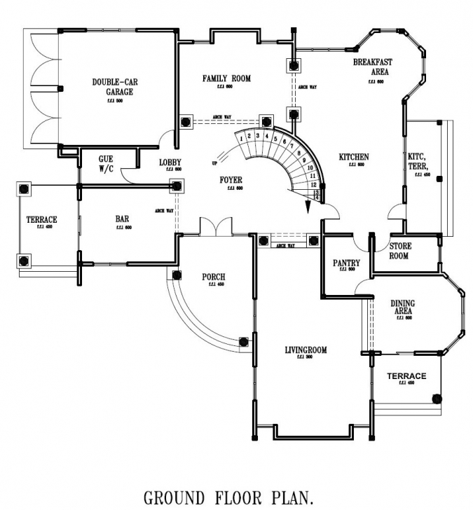 Classy Ghana House Plans Home Designs Ground Floor • Homes Plans - #20467 Ghana House Plan Pic