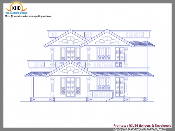 Classy Houses Sample Design Kerala Home Floor Plans - House Plans | #44734 House Plan Drawing Samples Pic
