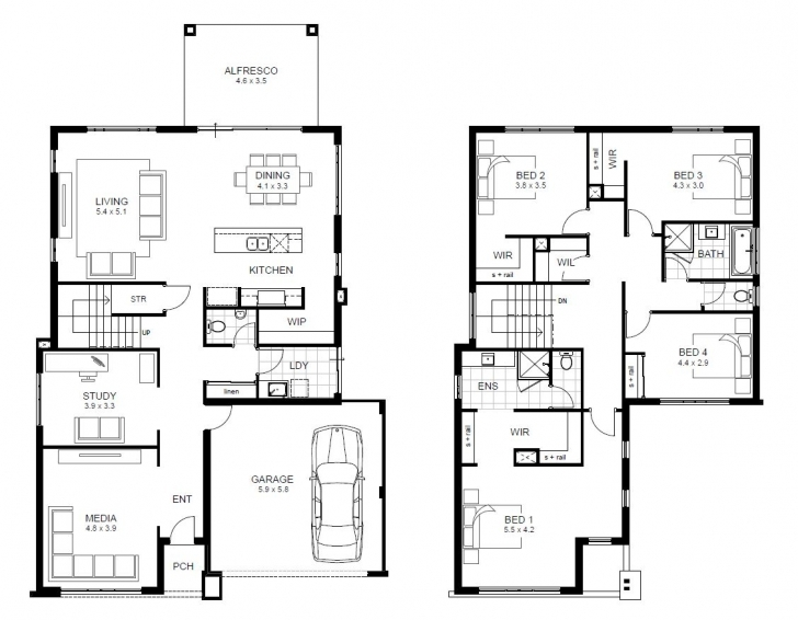 Classy Simple Double Story House Plans - Home Deco Plans Simple Double Storey Plans Image
