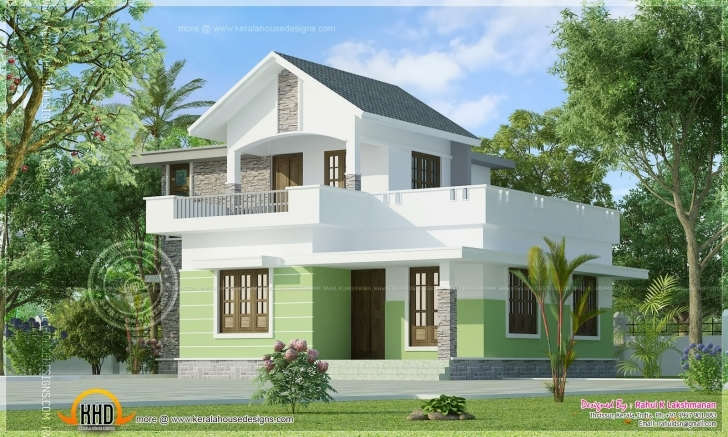 Classy Square Feet Small House Elevation Indian Plans - House Plans | #72627 Small Indian House Images Image