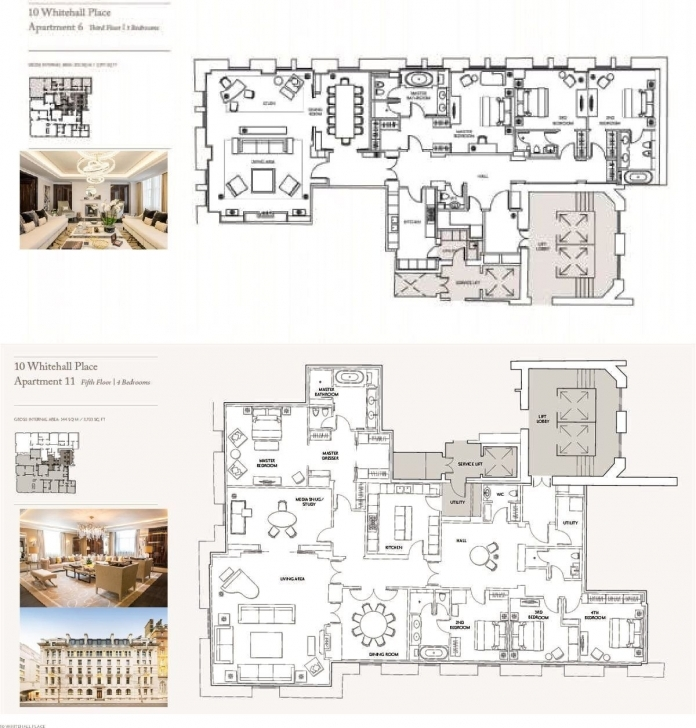 Classy The Corinthia Residences, 10 Whitehall Place, London, Sw1A Four Bedroom Flat London Picture