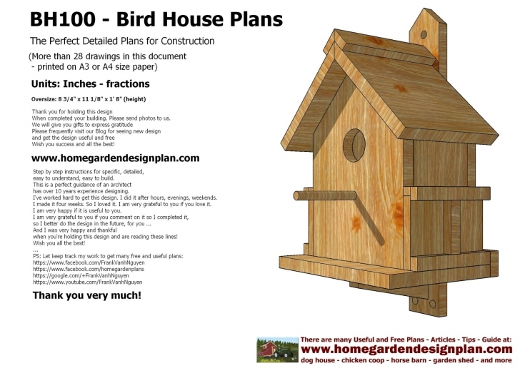 Classy Woodworking Garden Bird House Plans Pdf - Tierra Este | #1788 Bird House Plans Pic