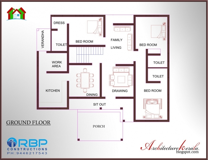 Cool 15 Luxury 2 Bedroom House Plans Kerala Style | Simulatory Two Bedroom House Plans Kerala Style Photo