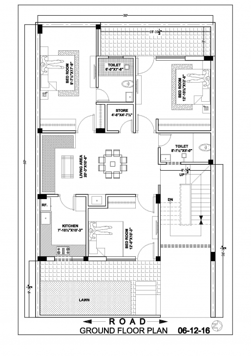 Cool 30×50 House Map Floor Plan | Houses Plans | Pinterest | Ground Floor 10×50 House Plan Map Image