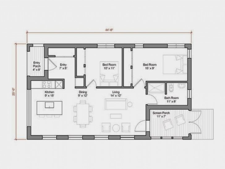 Cool Awesome 1000 Sq Ft House Plans 2 Bedroom Indian Style — House Style 1000 Sq Ft House Design For Middle Class Photo