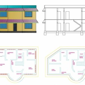 Autocad 2D Civil Drawings With Dimensions