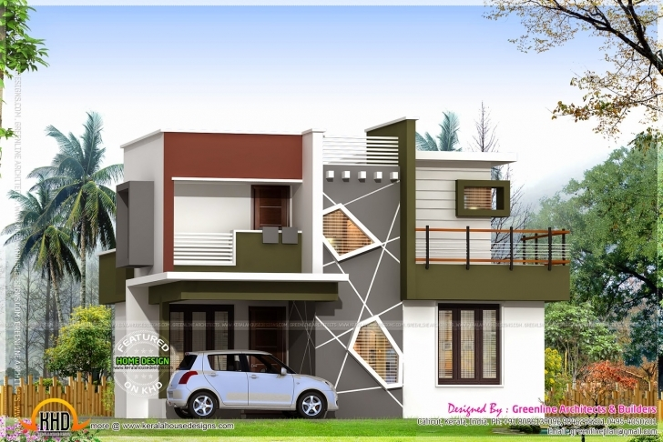 Cool Home Architecture: Modern Mediterranean Style Home Plans Modern Low Budget Modern 3 Bedroom House Design In Kerala Photo