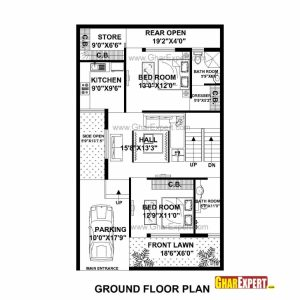 50 Sq Ft House Map