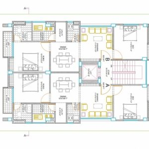Autocad 2D Drawing House Plan