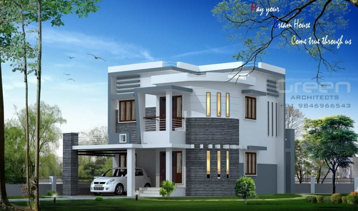 Cool Kerala House Plans And Elevations - Keralahouseplanner Kerala House Elevation Designs Pic