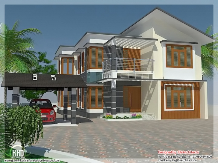 Cool Kerala Model 4 Bedroom House Plans | The Best Wallpaper Of The Furniture Pergola Design House In Kerala Photo