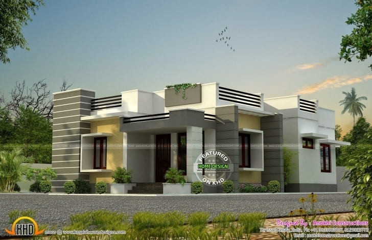 Cool Kerala Single Floor House Plans New Nice Front Elevation Of Single Single Floor House Front Design Kerala Style Image