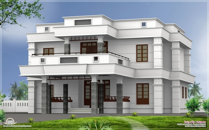 Cool Parapet Roof Home Design - Mellydia - Mellydia Image Of 3Bedroom Flat With Parapet Pic