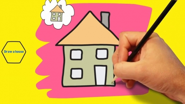Cool Simple Drawing For Kid How To Draw A House For Kids Easy - Easy And How To Draw Home For Kids Image