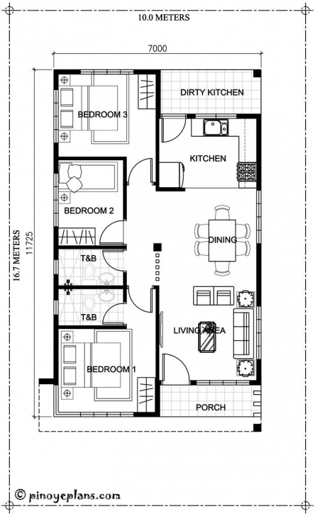 Cool Small Bungalow House Design And Floor Plan With 3-Bedrooms | Future 3 Bedroom Floor Plan Bungalow Picture