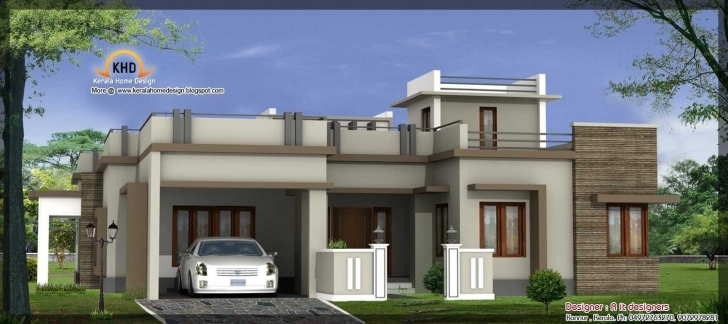 Cool Stunning Single Floor House Inspirations Including Charming Front Kerala Home Elevation Single Floor Pic