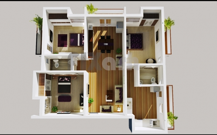 Cool Three Bedroom Flat Interior Designs Bedroom Expansive 3 Bedroom 3 Bedroom Flat Modern Buildings Photo