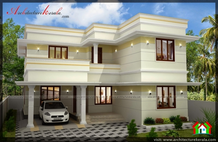 Cool Three Bedroom Two Storey House Plan - Architecture Kerala Double Storey House Plans In Kerala Photo