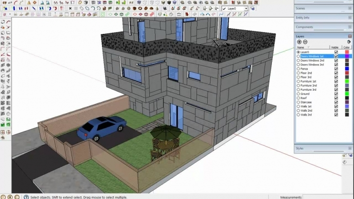 Cool Tip To Export From Sketchup 3D To Autocad 2D - Youtube Autocad 2D Plan To 3D Picture
