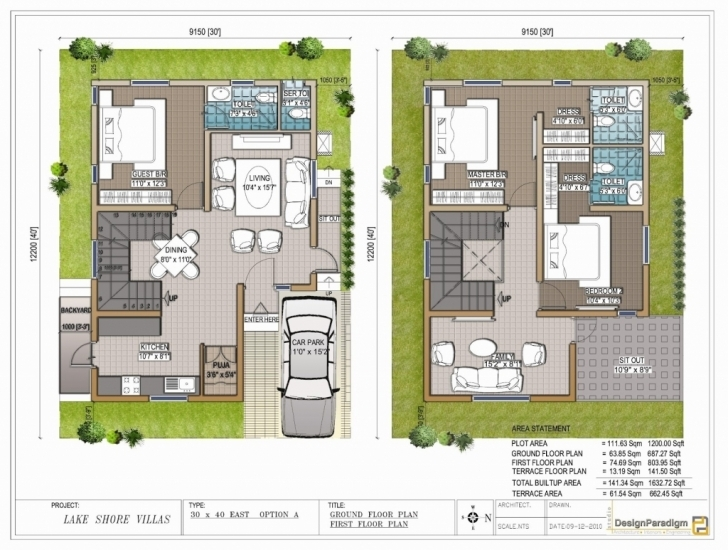 Exquisite 30 40 Site Duplex House Plan - Homes Floor Plans 30 40 Duplex House Plans With Car Parking East Facing Picture
