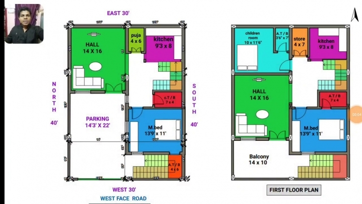 Exquisite 30 × 40 West Face House Plan Map Naksha Walk Through In 3D - Youtube Map Of House 53*53 Image