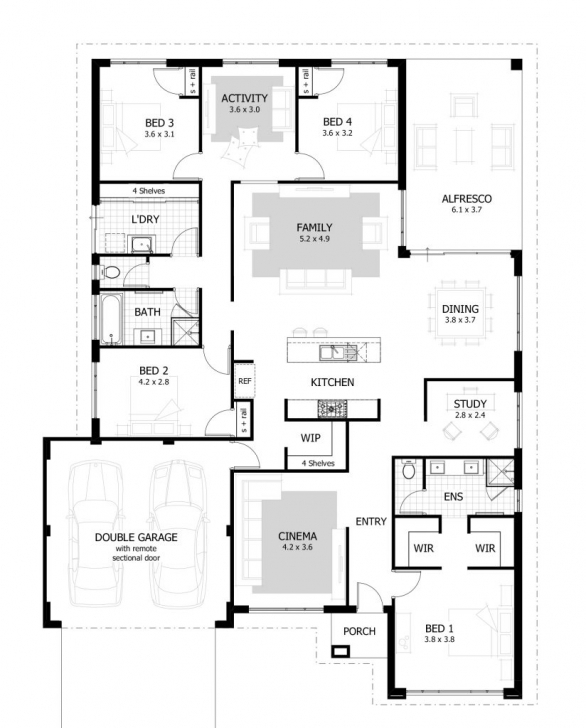 Exquisite 4-Bedroom Bungalow House Plans In Nigeria | Verge Hub 4 Bedroom House Floor Plans With In Abuja Picture