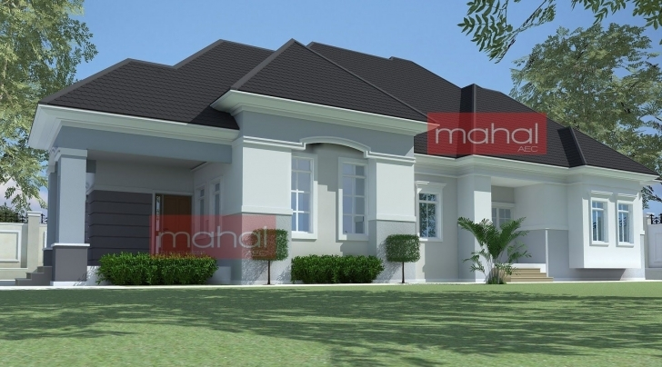 Exquisite 4 Bedroom Bungalow Plan In Nigeria 4 Bedroom Bungalow House Plans Modern Nigeria House Plans Picture