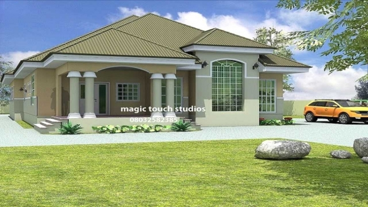 Exquisite 4 Bedroom House Plans In Uganda Awesome Bedroom Bungalow House Plan 4 Bedroom Building Plan In Ghana Photo